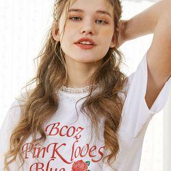 [예약판매 5/16 출고] Lace Rose T-ShirtWhite