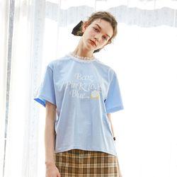 Lace Rose T-ShirtSky Blue