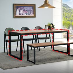 러버우드 원목식탁테이블 1600(6인)