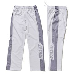 BSRABBIT BSRAWF TRACK PANTS WHITE