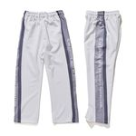 BSRABBIT DOUBLE LINE TRACK PANTS WHITE