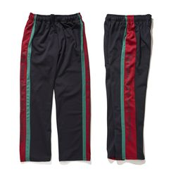 BSRABBIT DOUBLE LINE TRACK PANTS BLACK