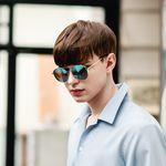 [워너원 강다니엘 착용] VIOLET RT E6002 C3 블루 미러 패션선글라스 편광렌즈