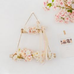 봄눈이 내리는날 벚꽃 행잉사다리