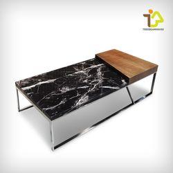 마빈 대리석 원목 사각 소파 테이블