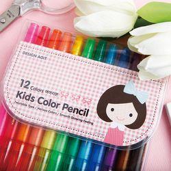 기성 색연필 12색여아리본