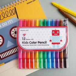 기성 색연필 12색로봇