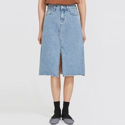 eight denim midi skirt (s m l)