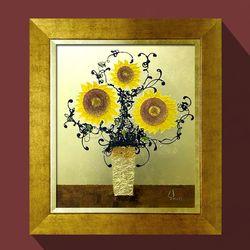 워너비아트 황금해바라기 그림액자돈들어오는그림