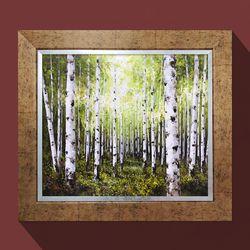 워너비아트 자작나무숲풍경화 거실그림 화가그림