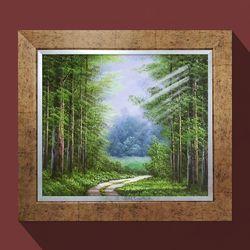 워너비아트 건승의숲길안방그림 소나무그림 유화그림