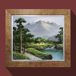워너비아트 기품의소나무소나무그림 복들어오는그림