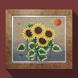 워너비아트 태양의황금해바라기거실 인테리어 그림
