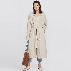 marbling linen trench coat