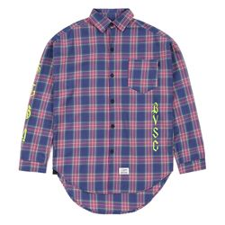 WAVE OVERSIZED CHECK SHIRTS VIOLET