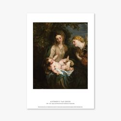 Virgin and Child with Saint - 안소니 반 다이크 018