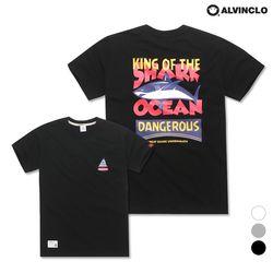 [앨빈클로] AST-3261b Shark Ocean 반팔 티셔츠