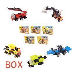 7000 미니블록 장난감 (건설장비 5종) 박스 80개입