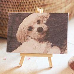 빈티지 나무 액자 사진인쇄 (소)