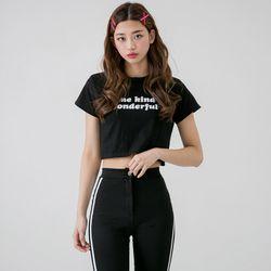 [로코식스] 원더풀 크롭 티셔츠