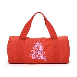 WORK IT OUT GYM BAG-wine