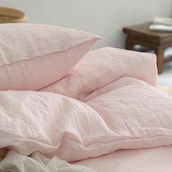 베르디워싱린넨베딩(핑크)-퀸기본set