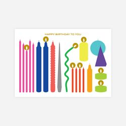 Birthday Card with Candle light sticker