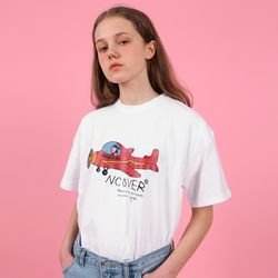 Airplane graphic tshirt-red