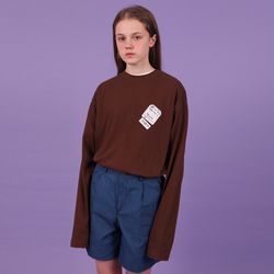 Baggage tag tshirt-brown