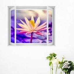 ct033-행운가득아름다운연꽃창문그림액자(중형)