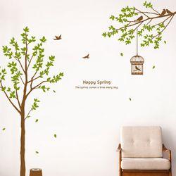 im715-나뭇잎흩날리는해피스프링그래픽스티커