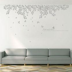ph342-흩날리는나뭇잎들(단색)그래픽스티커