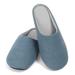 [WithTiG]패브릭 소프트 슬리퍼 -cadet blue-