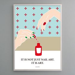 유니크 인테리어 디자인 포스터 M 네일아트 A3(중형)
