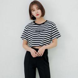 [로코식스] 윌리 단가라 크롭 티셔츠