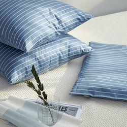 쿠론 블루 트윌 방석(솜포함)(50x50)