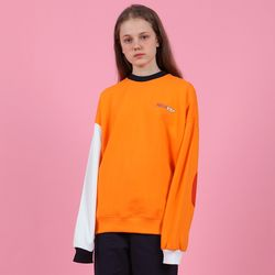 [N] Block elbow point sweatshirt-orange