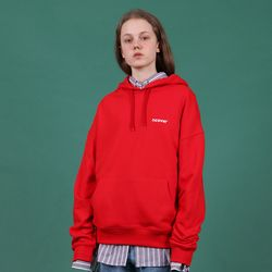 [N] Ncover small logo hoodie-red