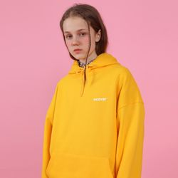 [N] Ncover small logo hoodie-yellow