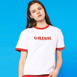 GRISH LOGO t-shirts (WHITE)