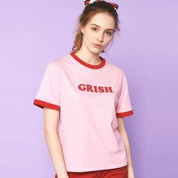 GRISH LOGO t-shirts (PINK)