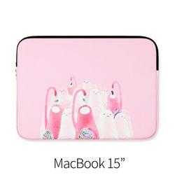 젤리를 먹어 핑크빛을 (노트북 15인치 파우치)