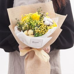 안개목화꽃다발 48cmP (전구미포함) FMBBFT