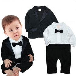 시크한 턱시도 우주복과 자켓(0-24개월) 300205