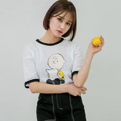 [로코식스] 찰리 프린팅 티셔츠