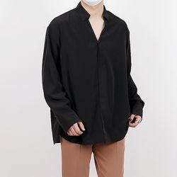Hyoji V open overfit tunic shirts