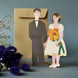 축하합니다 카드-결혼