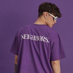 NBS002 네이버스 텍스트 반팔 - 퍼플