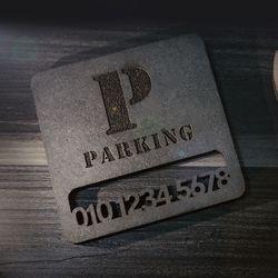 고급 주차번호판 부속품-받침대 자동차알림판