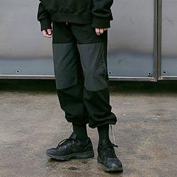 매스노운 SL 니커버 스트링 트랙 팬츠 MSETP001-BK